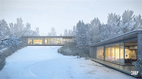 winter house design glass sided house in snow interior design ideas