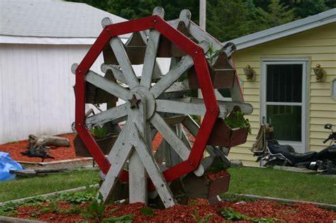 backyard ferris wheel hand made ferris wheel garden planter rome pennsylvania