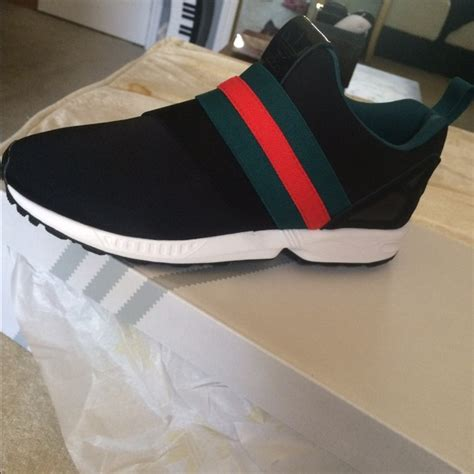 Shoes Gucci Import 10 43 adidas shoes custom gucci adidas zx flux slip on