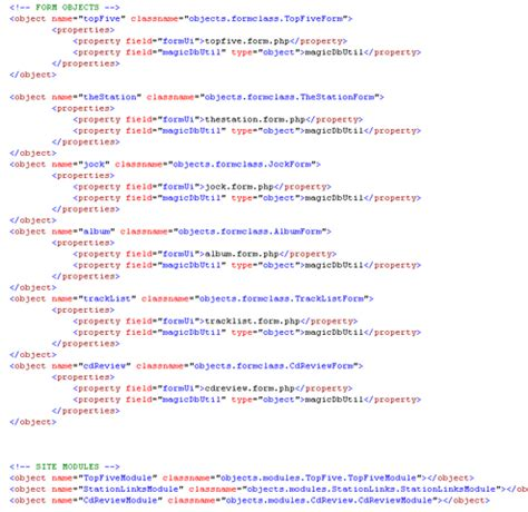 xml file pattern php ioc inversion of control design pattern