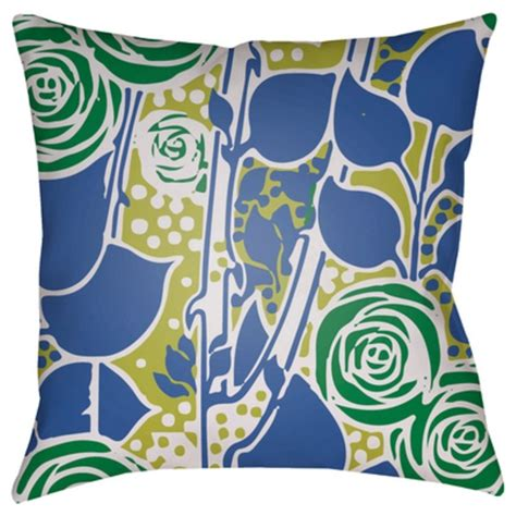 chinoiserie flower decorative pillows best bed rest surya chinoiserie floral 18 x 18 x 4 made to order royal