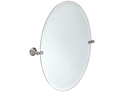 moen dn6892bn sage oval tilting mirror brushed nickel bathroom oval tilting mirror