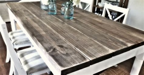 Diy Dining Room Table Lowes Diy Dining Room Table With 2x8 Boards 4 75 Each For 31