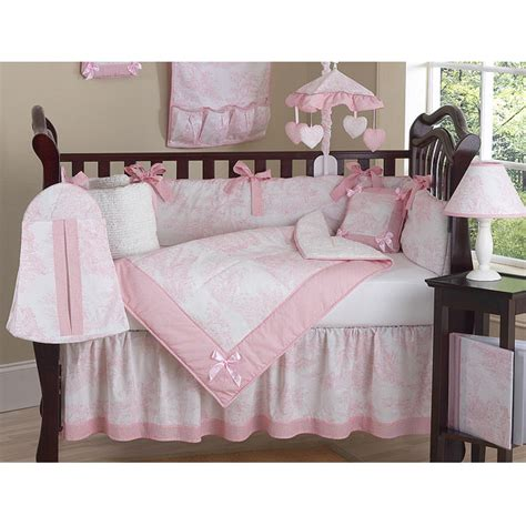 Sweet Jojo Designs Pink Toile 9 Piece Crib Bedding Set Toile Crib Bedding