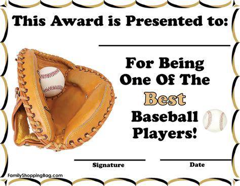 printable baseball award certificates carla maria smith