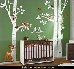 Animal Wall Stickers For Nursery Birch Trees Wall Decal Nursery Wall Decal Forest Trees