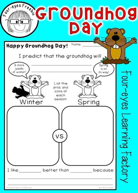 groundhog day prediction happy groundhog day enjoy this free activity where