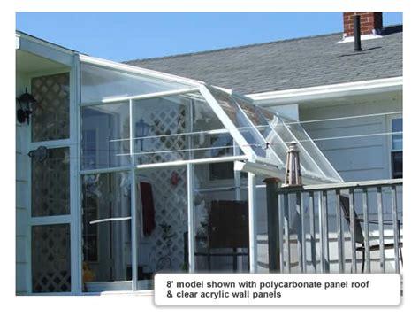 greenhouse sunroom eco sunroom 8 lean to greenhouse kit acrylic rion lt