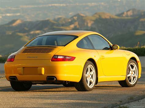 porsche yellow 2006 yellow porsche 911 carrera coupe wallpapers