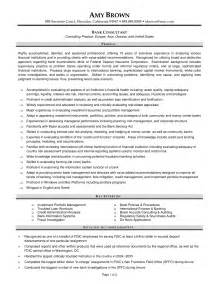 Resume Format For Banking Operations India Banking Manager Sle Resume Uxhandy