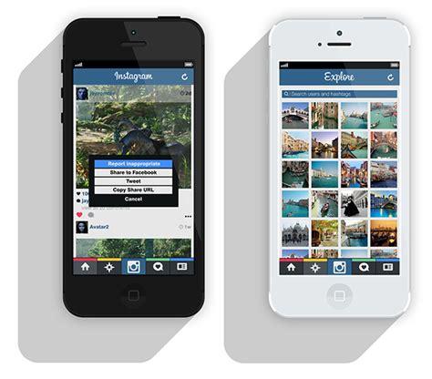 graphic design instagram app alternative design for instagram app on behance