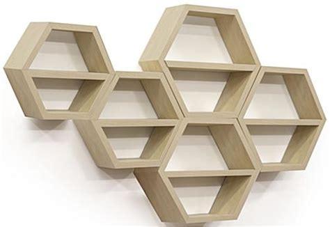 floating honeycomb shelves set of 5