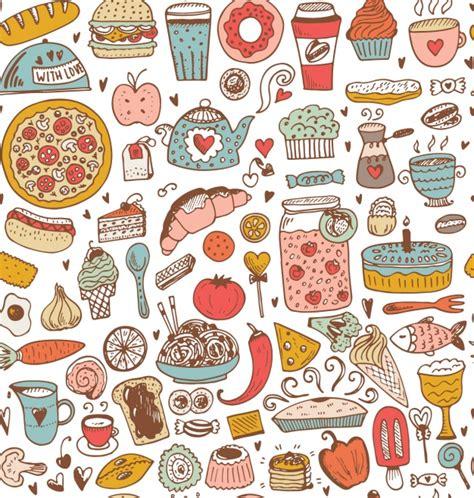 image pattern food food pattern design vector premium download