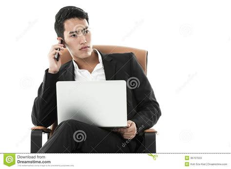 how to a to listen when called businessman listening to a phone call stock photos image 36707553
