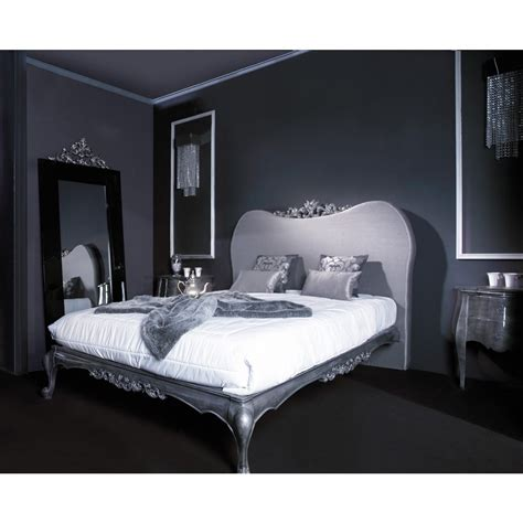 silver king size headboard silver carving king size bed with headboard