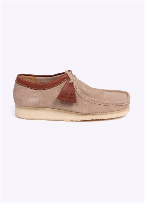 clarks originals suede wallabee shoes sand