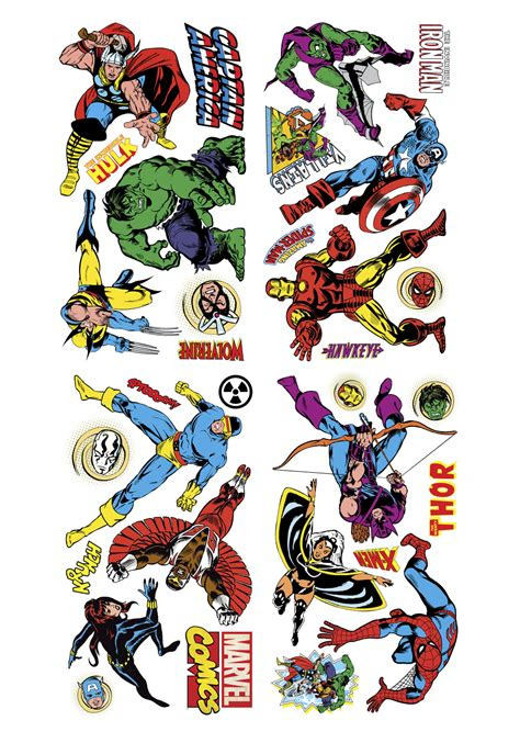 marvel heroes wall stickers marvel wall decals roselawnlutheran