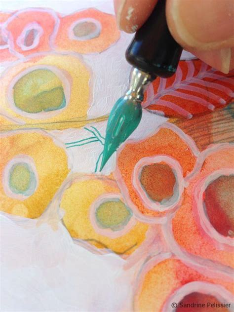 watercolor paper flower tutorial how to paint mixed media flowers on yupo paper step by step