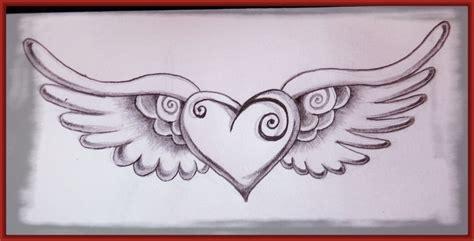 imagenes a lapiz de corazones con alas dibujos de corazones con alas a lapiz www pixshark com