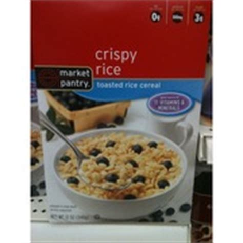 Market Pantry Cereal by Market Pantry Crispy Rice Toasted Rice Cereal Calories Nutrition Analysis More Fooducate