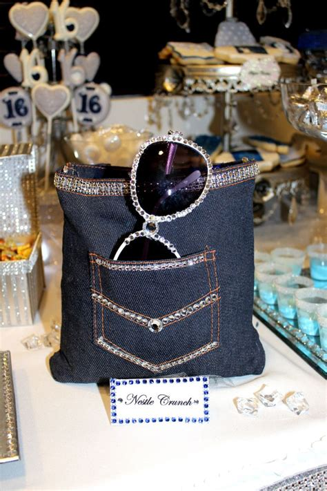 decorating with denim denim diamonds sweet 16 candy table party decoration