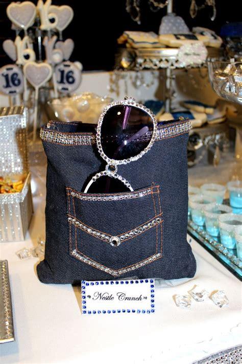 denim and diamonds centerpieces denim diamonds sweet 16 table decoration