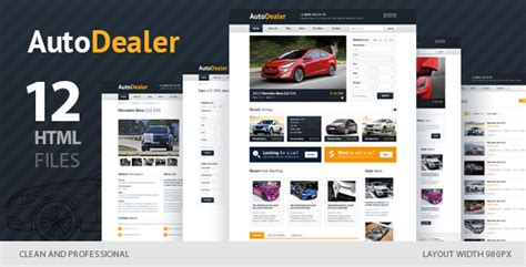 20 Auto Parts Cars Html Website Templates Car Dealer Email Templates