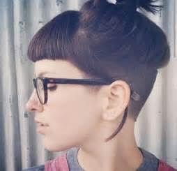 womens hair shaved just above ears 34 best it is possible to have bangs and an undercut
