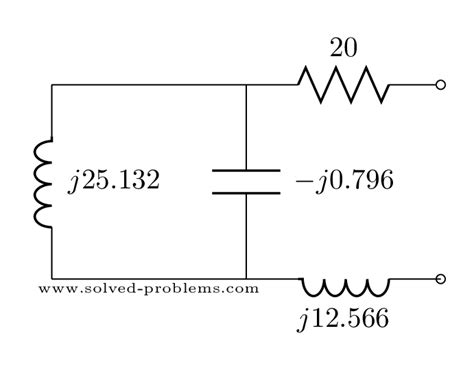 equivalent impedance of capacitor find equivalent impedance ac steady state analysis solved problems
