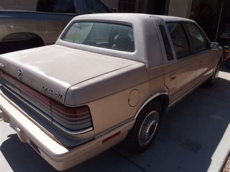 automobile air conditioning repair 1992 chrysler lebaron free book repair manuals find used 1992 chrysler lebaron landau sedan 4 door 3 0l in peoria arizona united states for