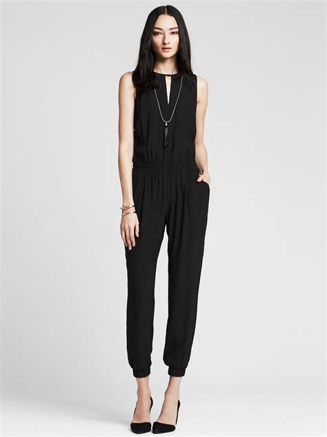 Parry Jumpsuit Shop At Banana banana republic drapey jumpsuit in black br black lyst