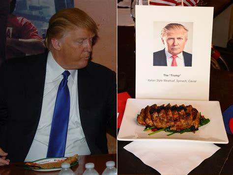 donald trump food presidential candidates inspire nyc restaurant dishes ny