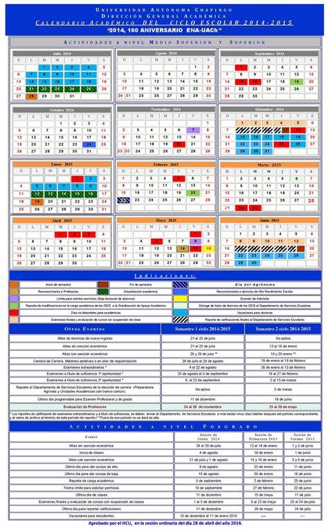Universidad O M Calendario Academico 2015 Ingenier 237 A Agroindustrial