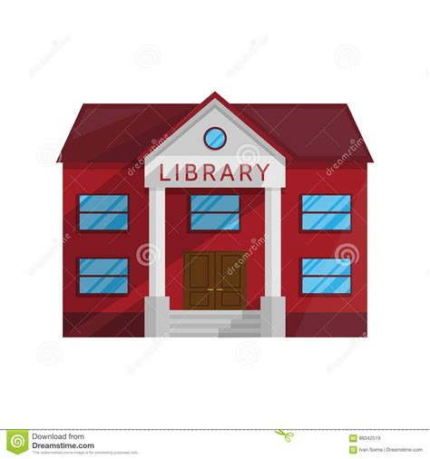schomburg the who built a library books library building in flat style isolated on white