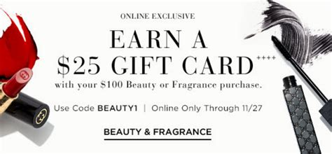 Saks Gift Card - saks free 20 gift card with 100 beauty purchase gift with purchase