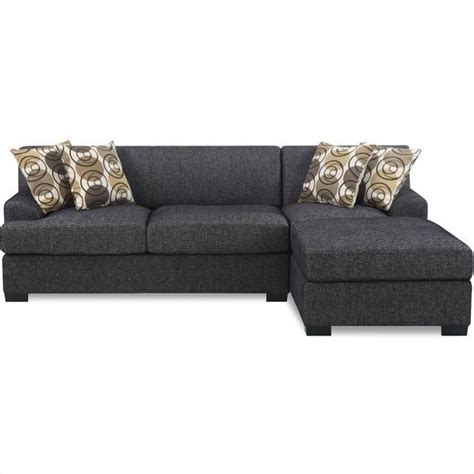 love chaise poundex benford faux linen chaise love sectional in ash