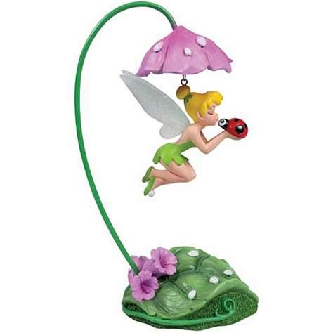Figure Tinkerbell disney fairies tinker bell ladybug hanging figure statue