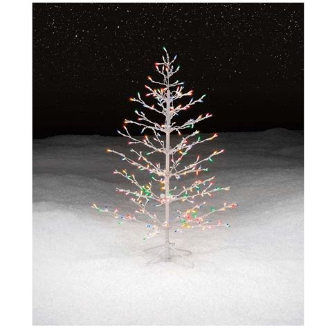 trim a home brilliant tree multicolor lighted stick tree get it at kmart
