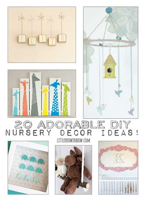 Diy Nursery Decor Ideas 20 Adorable Diy Nursery Decor Ideas Windowlittle Window