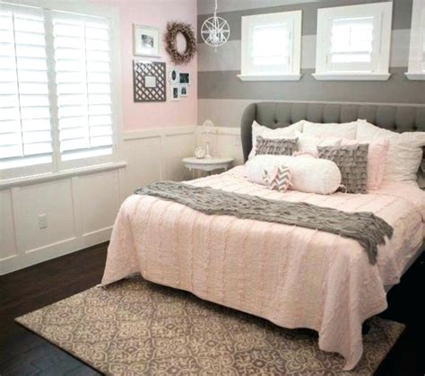pink and grey bedroom gray with copper lights light