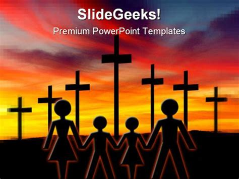 free powerpoint templates family cross02 family religion powerpoint template 0610