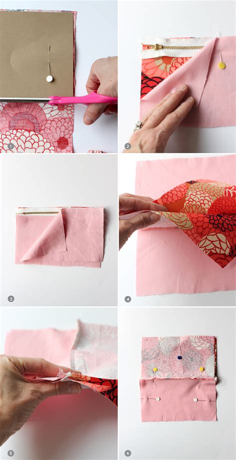 How To Make Small Bags Out Of Paper - and loisdiy mini makeup bag steps 1 6 and lois