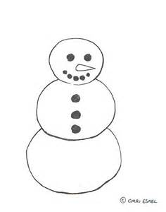 Snowman Outline Simple by Best Photos Of Snowman Craft Template Printable Snowman Hat Pattern Snowman Template And