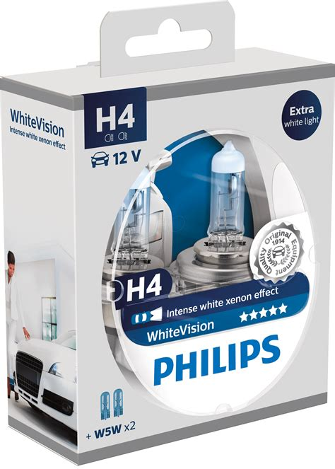 Lu Halogen H4 Weather Vision Philips phi h4 white2 h4 headlight bulb philips white vision