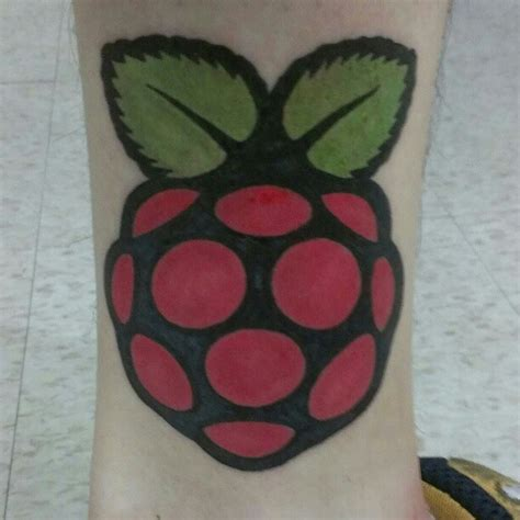 world s first raspberry pi tattoo we think so raspberry pi