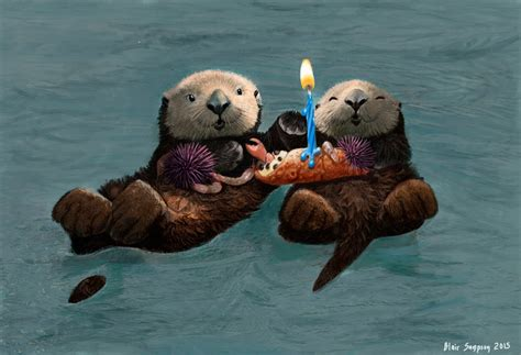 birthday card template with otter sea otter birthday card by psithyrus on deviantart