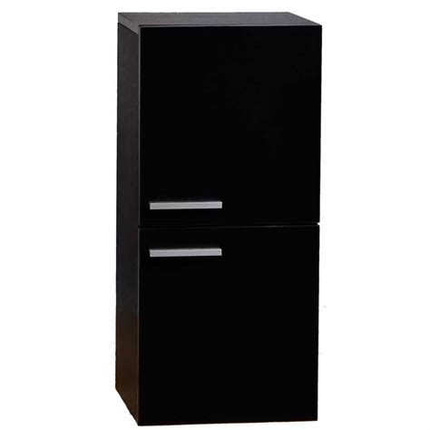 12 Inch Linen Side Cabinet With Two Doors In Walnut Tn Black Linen Cabinets For Bathroom