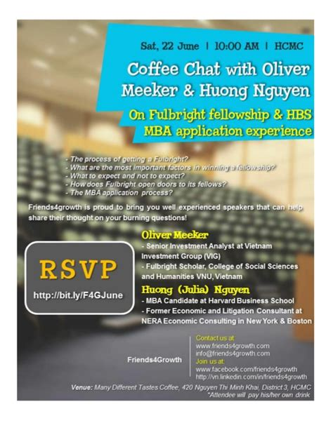 Wharton Mba Coffee Chat by Coffee Chat With Oliver Meeker And Huong Nguyen On