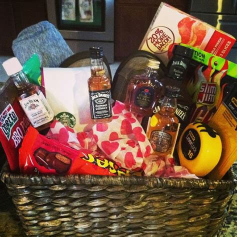 gift basket ideas for him valentines day gift basket for him holidays
