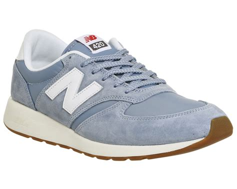 balance 574 light blue mens balance mrl420 light blue white trainers shoes ebay